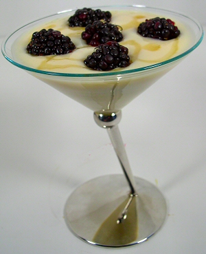 Soy Yogurt with Blackberries and Agave Nectar