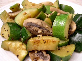 Sautéed Zucchini and Mushrooms