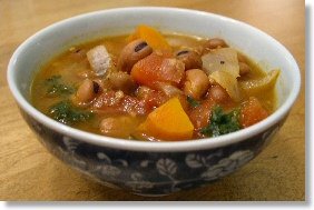 Ful Nabed (Egyptian Bean and Vegetable Soup)