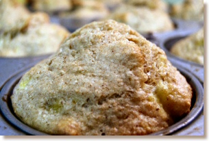 Banana-Date-Walnut Muffins