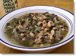 Collards and Blackeyed Peas Soup