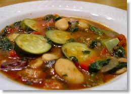 Cretan Bean and Spinach Stew