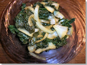 Kale & Onion Stir-fry