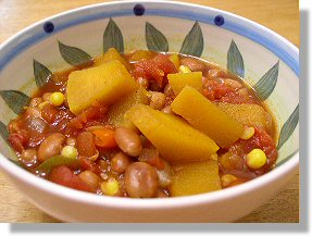 Pumpkin and Pinto Bean Chili